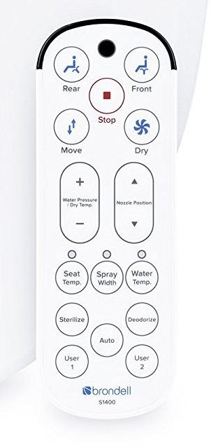 Brondell Swash 1400 remote control